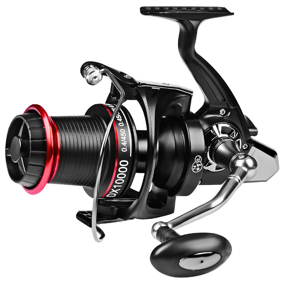 Spinning Fishing Reel 14+1 Ball Bearings Left/Right Hand Freshwater Baitcasting Wheel 8000-10000 Series, Black