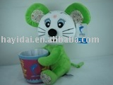 Plush stuffed toys mouse toy plush pen holder educational toy
