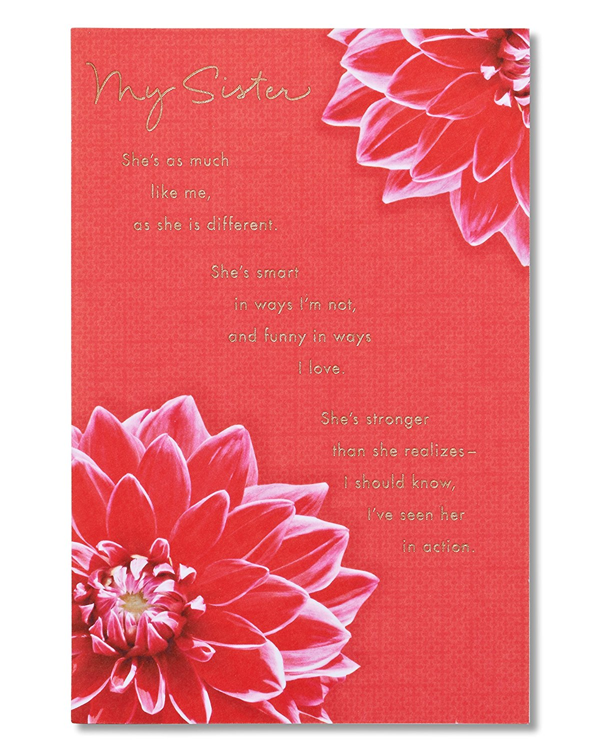 Buy American Greetings My Sister Birthday Card For Sister With Foil