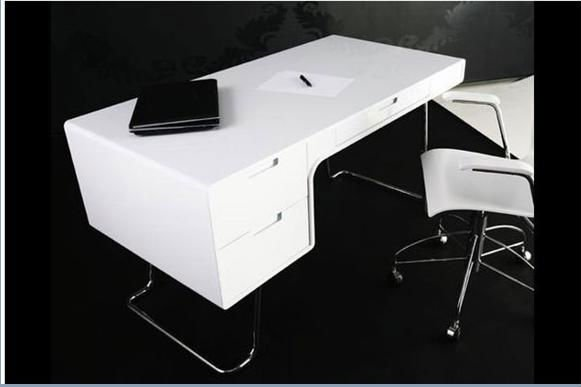 2017 New Style Office Desk Mdf High Gloss Lacquer Computer Desks Furniture Product On Alibaba