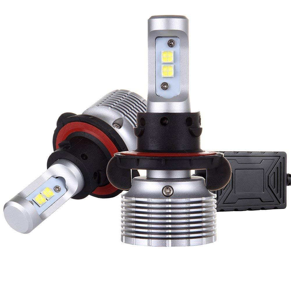 Scitoo H13 Upgrade Headlight Bulb Conversion Kit, H13 Foglight Bulbs 60W 7600LM 6500K,White LED Driver Dual Beam Headlight Bulbs(Include 2 Bulbs)