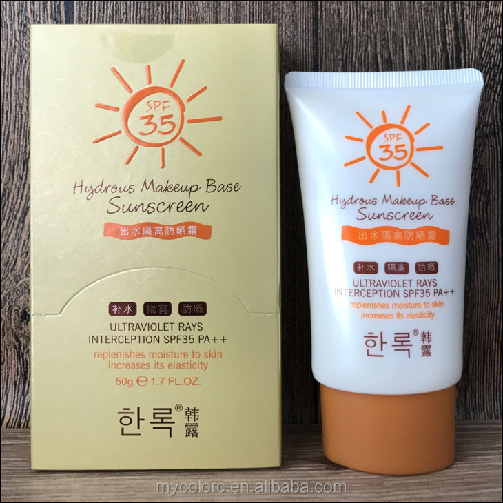 J4022 sunscreen 50g spf35pa++ makeup base sunscreen lotion brightening sun block cream whitening cream with sunscreen protection