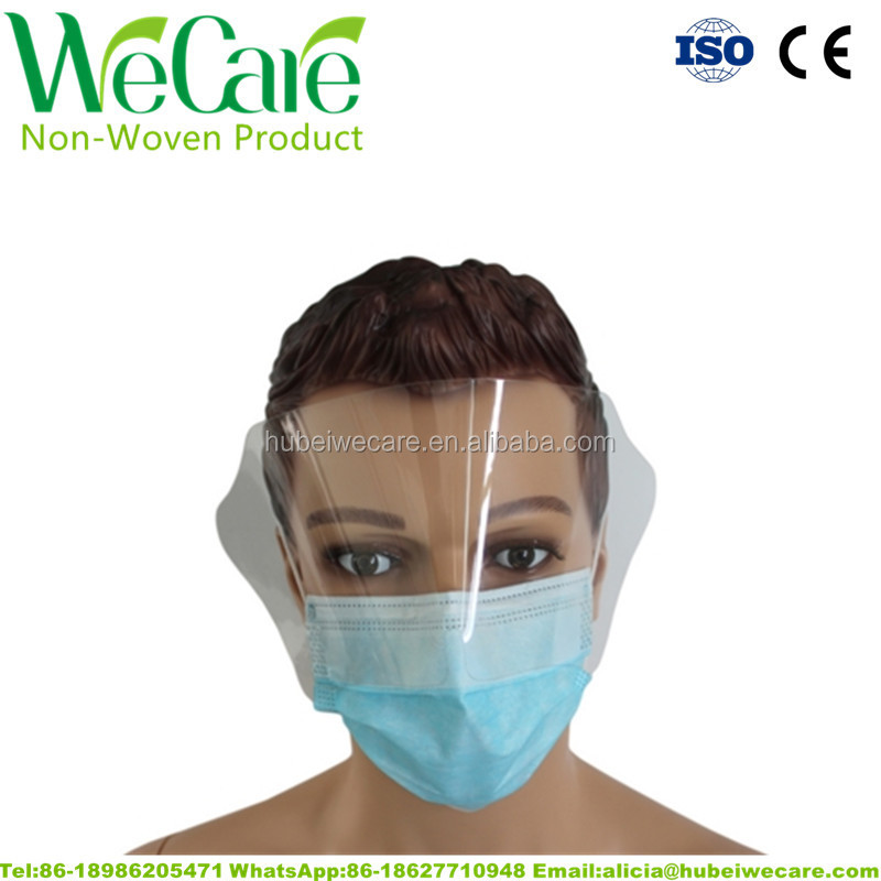 disposable face mask with eye shield