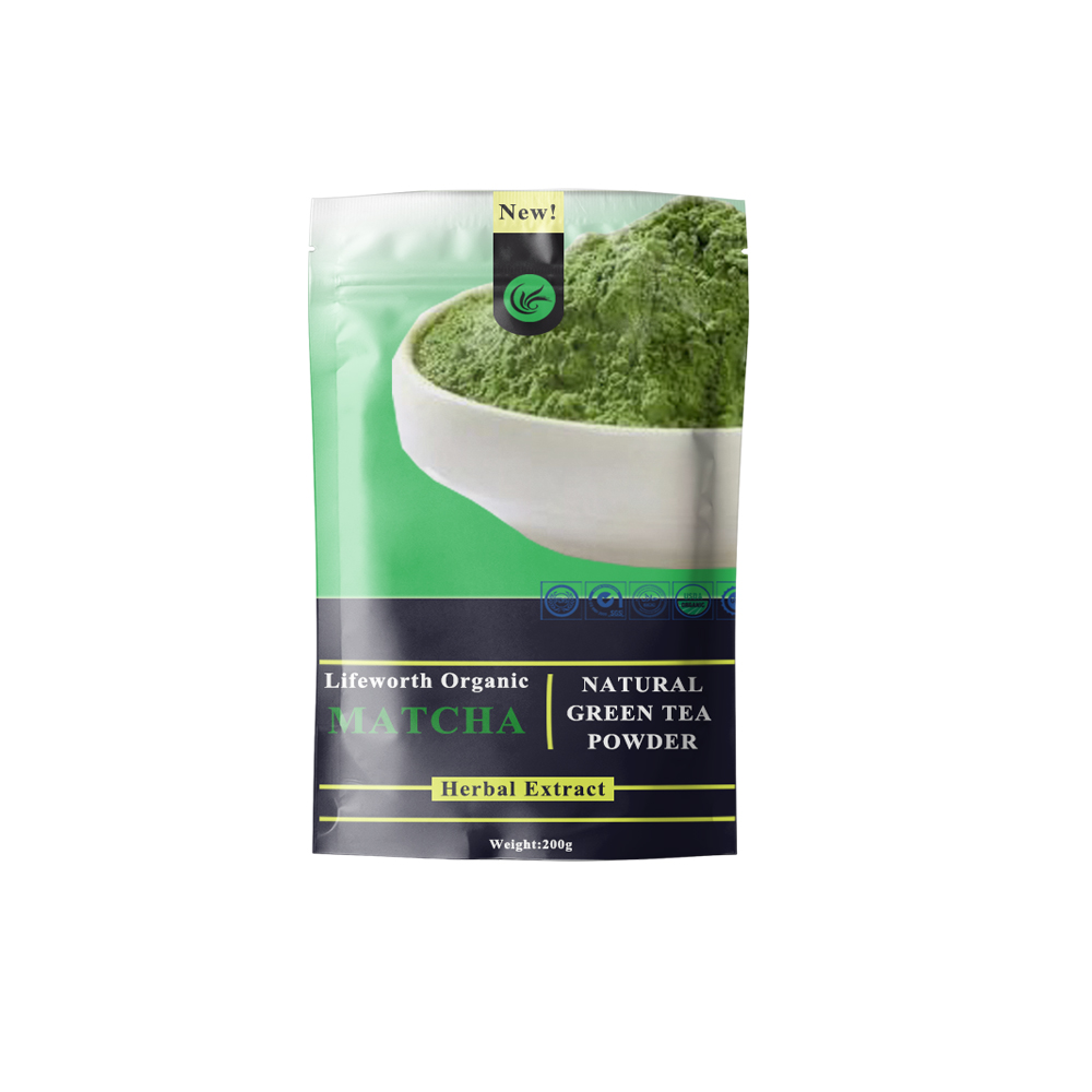 Private label organic matcha green tea powder with mushroom for amazon retailers