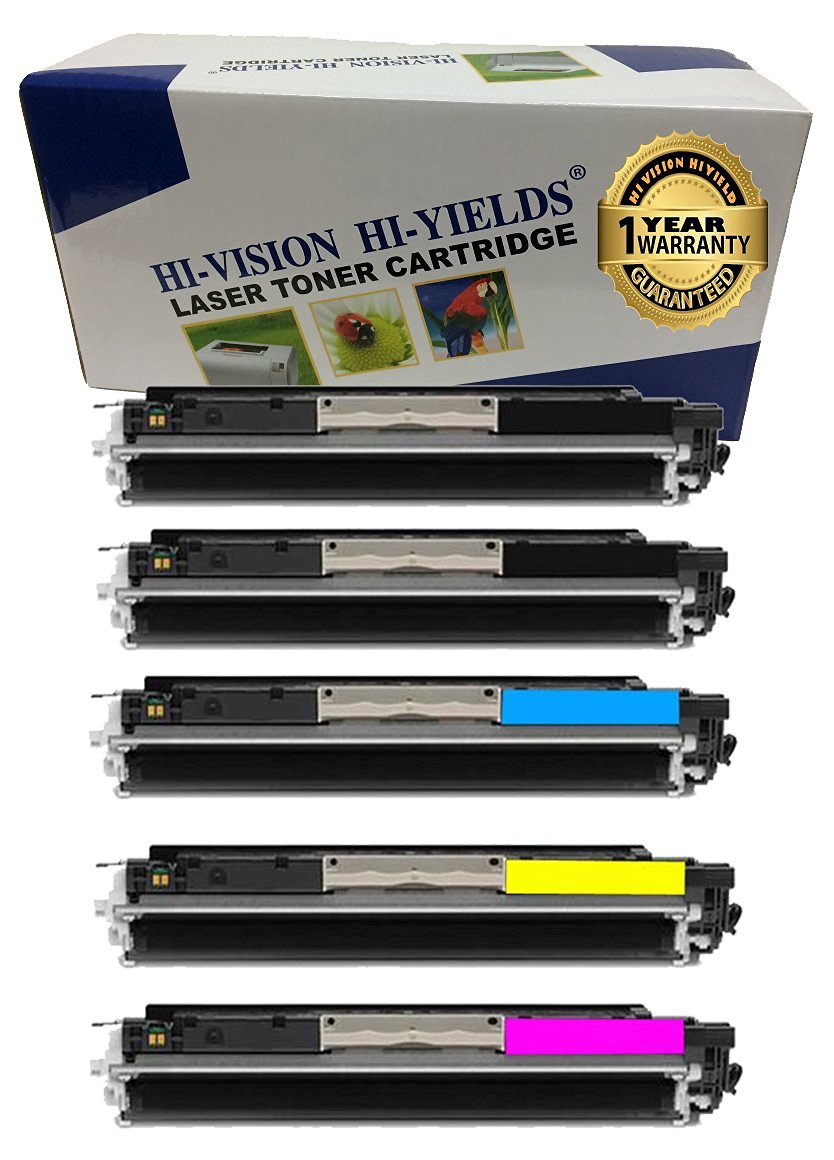 CE310A Black CE311A Cyan CE313A Magenta /& LD Remanufactured Replacements for HP 126A Set of 4 Toner Cartridges