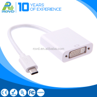 White Color 3.1 USB Type - C Male to DVI Female Adapter Cable