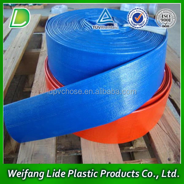 Pvc Lay Flat High Pressure Irrigation Drain Pipe Water Outlet Hose