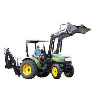 Chinese Cheap Farm small 30hp 40hp 4wd compact tractor Mounted frond end loader with bucket for sale