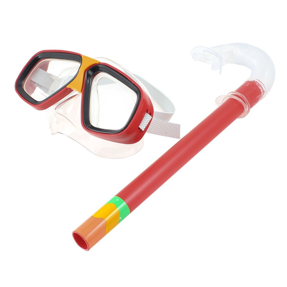 656d8d8b4de Get Quotations · Red Clear PVC Frame Swim Diving Scuba Goggles Mask Snorkel  Set