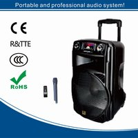 12 inch and 15 inch portable active speaker with bluetooth, USB, TF card, Radio