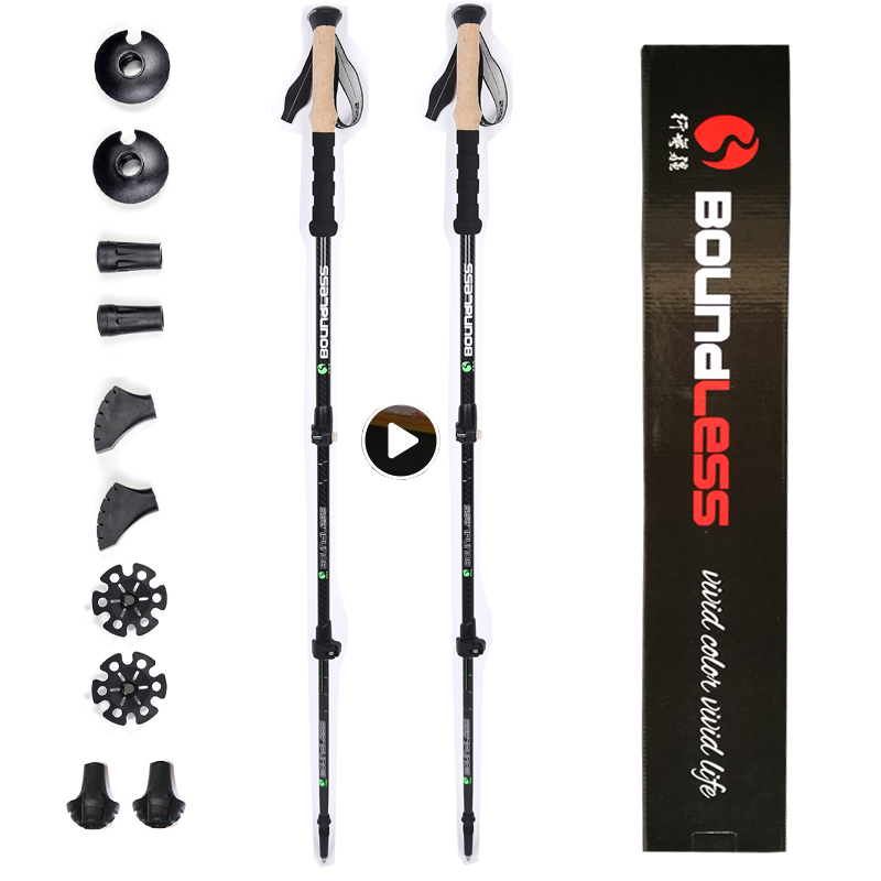 Best quality telescopic carbon fiber trek trekking pole nordic walking stick prices hiking stick for sale