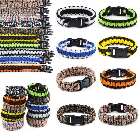 BRACELETS KIT Military Emergency Survival Bracelet Men Charm Bracelets