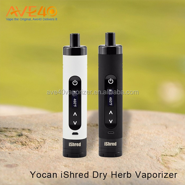Wide-mouth heating chamber herbal vaporizer dry herb Yocan iShred dry herb vape pen