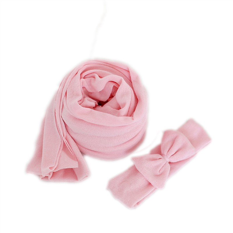Lovely Pink Baby Photo Swaddle Blanket Knit Wrap Props Newborn Photography Props Soft Jersey Stretch Wrap, Multiple