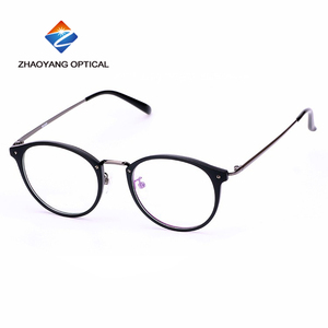 CHINESE wholesale round frame eyeglasses TR90 metal optical glasses