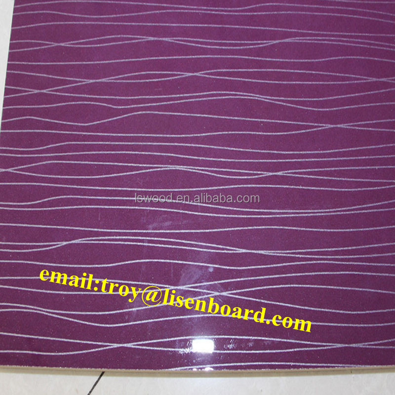 PVC Plastic Coated MDF Board
