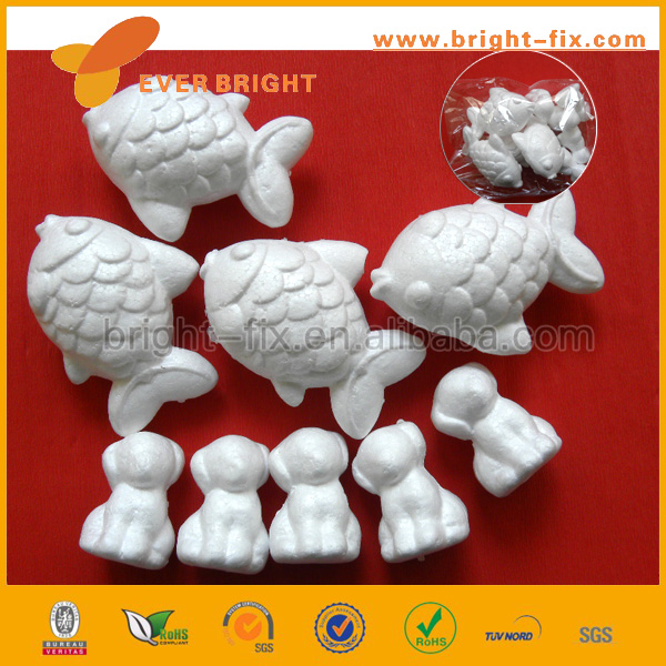 Animal Shaped White Foam Balls for Crafts, Foam Ball for School Projects, Arts and Crafts Foam Balls