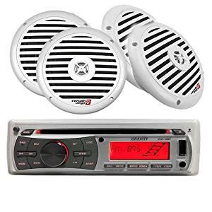 "MARINE, YACHT PACKAGE - MGR-208BT + FOUR XM65W 6.5"" 250-Watt Speakers"