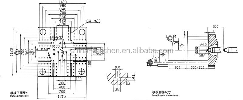 Horizontal 550ton automatische Kunststoffschale, die Palettenspritzgießmaschine herstellt