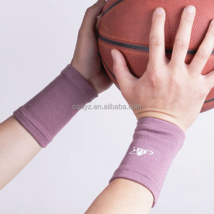Knitting breathable Colored Elastic Sports Wristband Support basketball volleyball football wristband pain relief wrist band