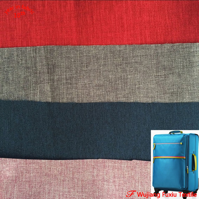hot sale 300D 600D PU coated cation melange 2 tone polyester oxford fabric for bag