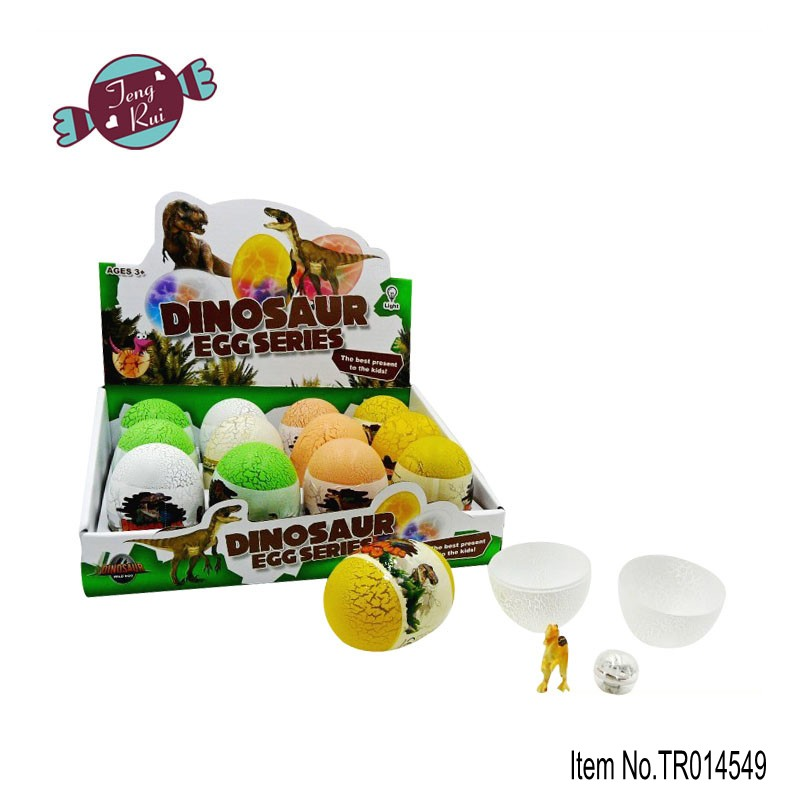 Hot selling product--- new Dinsouar egg with light candy toy,surprise egg toy candy