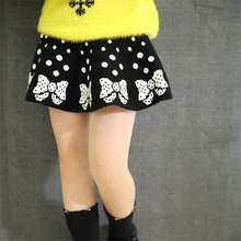 Baby Skirt 2015 Autumn Winter Girl Skirtt Brand High Waisted Skirt Girls Wool knitted Skirts all