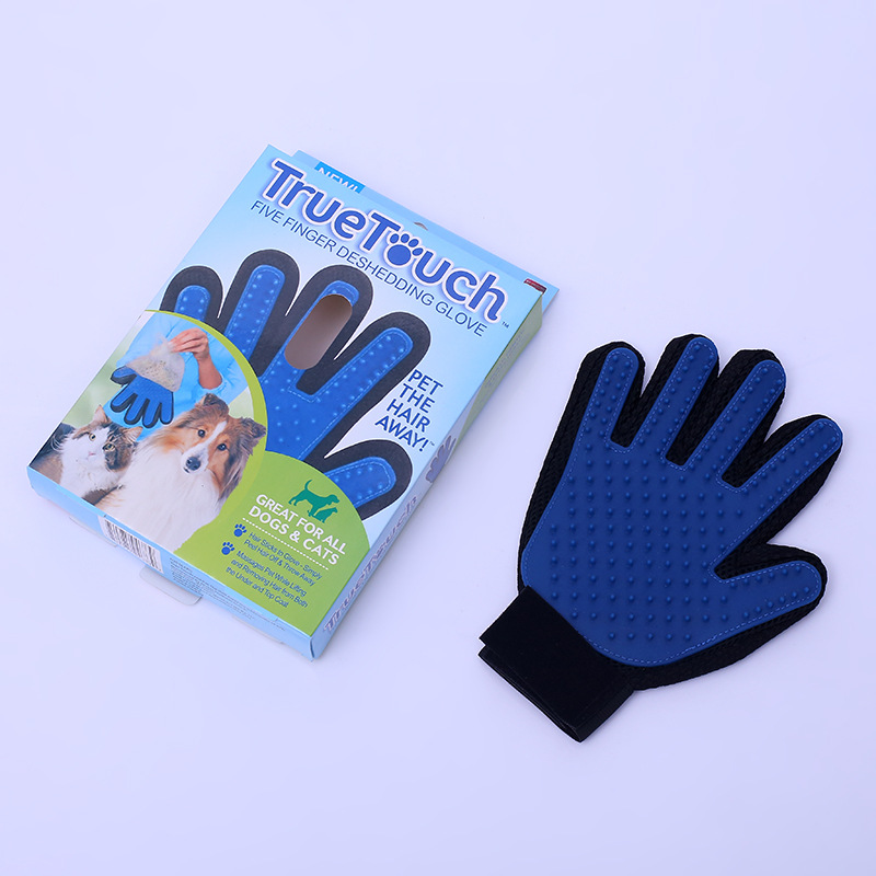 Pet Grooming Tools Five Finger Glove Deshedding Hair Fur Remover