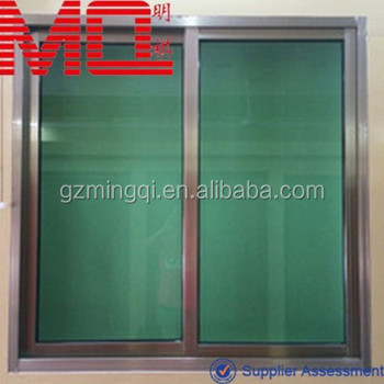 Pretty Design Aluminium Frame Windows With Tinted Green Gl