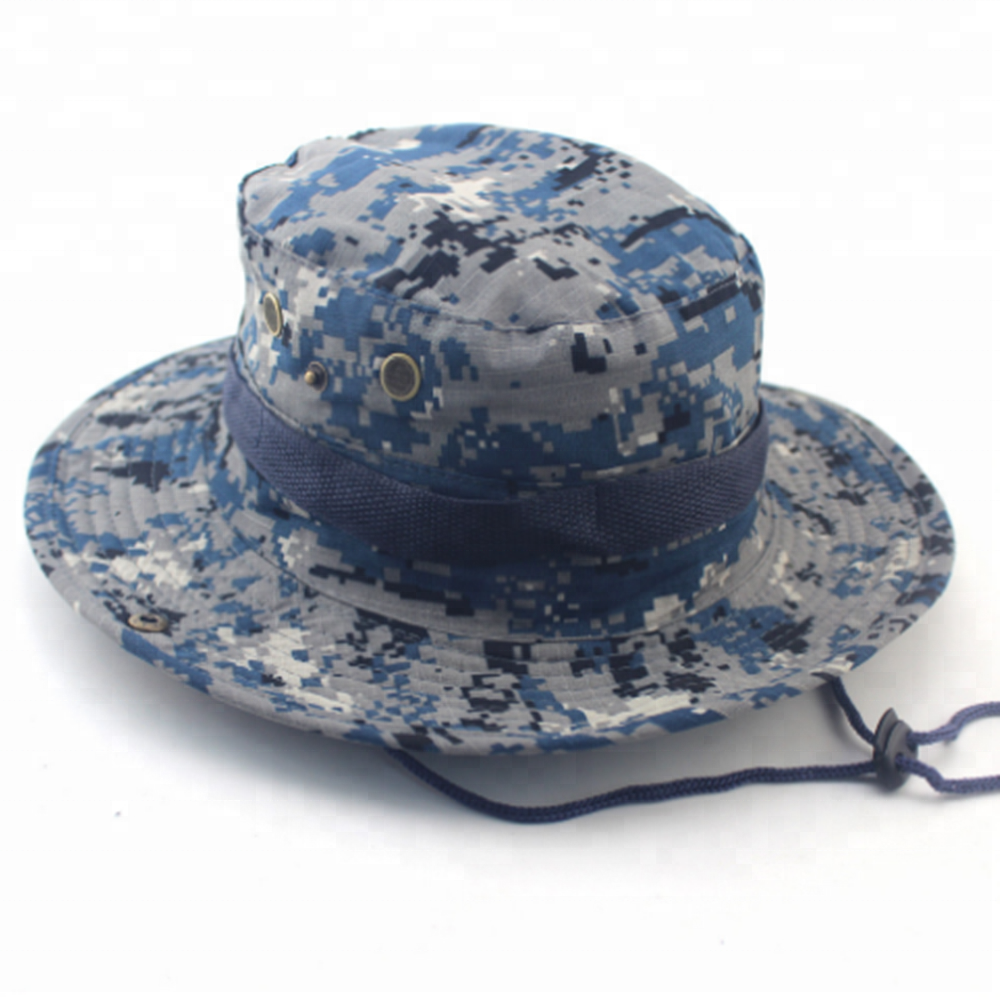 Tactic Cap Camouflage Hat Custom Design Camo Bucket Hat With String 42208834dc9