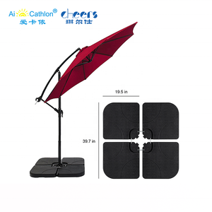Cheap plastic 15L HDPE parasol umbrella base 4pcs parts outdoor