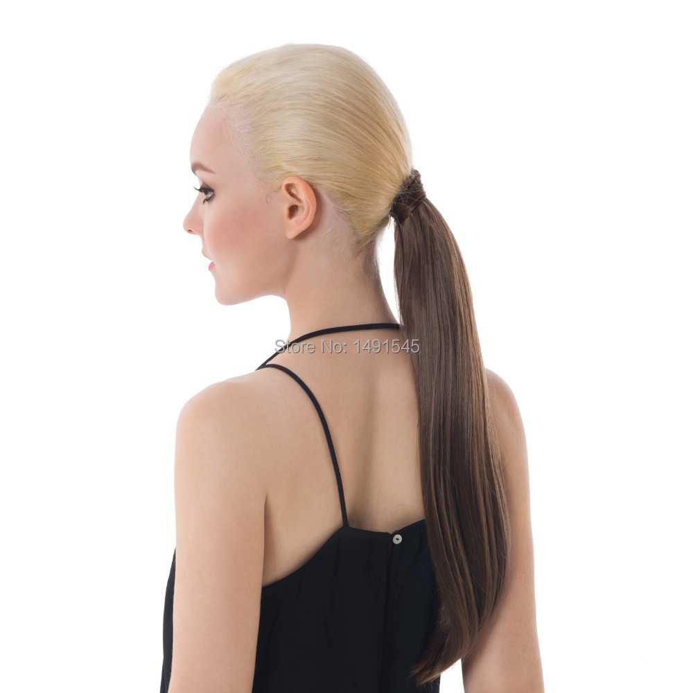 Buy Dayiss Brand New Lady Long Straight Ponytails Wrap Around Hair