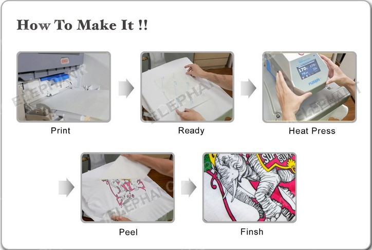 High best quality self weeding no cut t shirt heat for Best quality t shirt transfer paper
