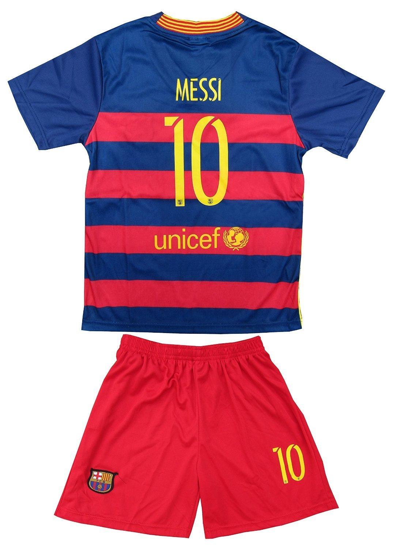 65e92666b 2015 2016 FC BARCELONA LIONEL MESSI  10 HOME FOOTBALL Soccer KIDS JERSEY    SHORT