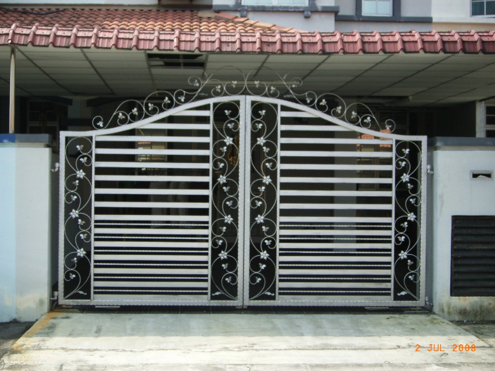 House Different Steel Slide Iron Main Gate Designs