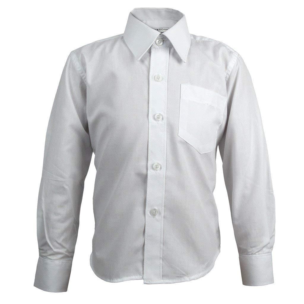 2380811c0c2 Get Quotations · Authentic Galaxy Boys School Uniforms Long Sleeve White  Shirt