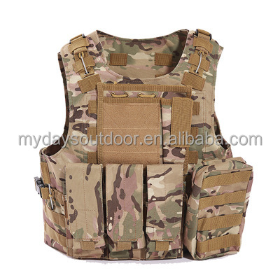 Outdoor camo hunting police military vest with holster