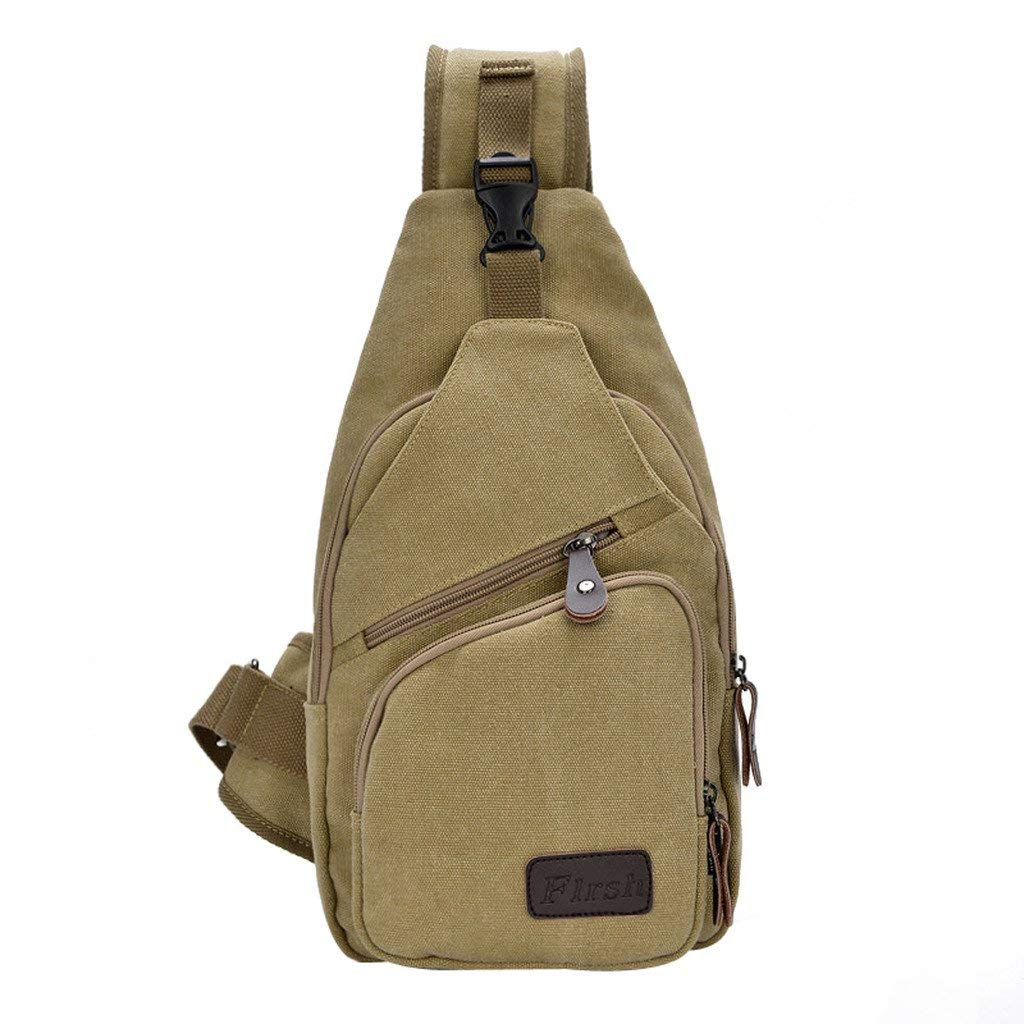 Get Quotations · Daosen Casual Canvas Unbalance Backpack Sling Bag Men  Shoulder Bag Chest Bag 38fd76ed5e065