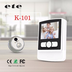 Low Price high quality ete 2.4 inch wifi peephole door viewer,wireless digital door viewer,door viewer peephole glass lens