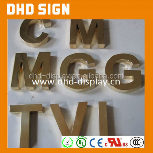 All Sufficient Polished High Quality personalized Zinc Alloy Metal DIY Plain slide alphabet letters