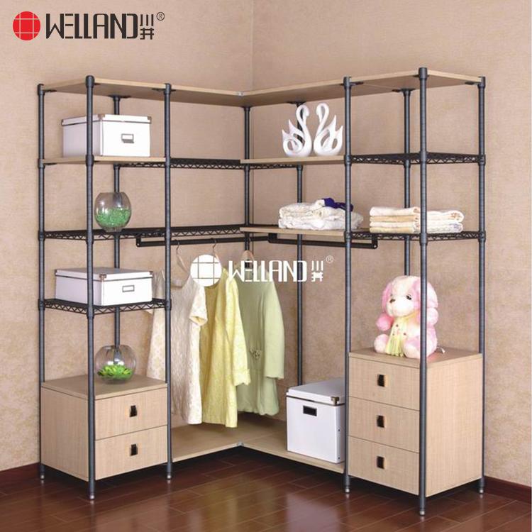 Modern Convenient Bedroom/closet Room Organizer Furniture Wooden Steel  Wardrobe Wire Shelving With Cabinet - Buy Wardrobe Cabinet,Closet ...