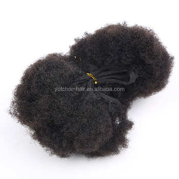 Factory Wholesale High Quality Afro Kinky Curl Human Hair Weft Double Drawn