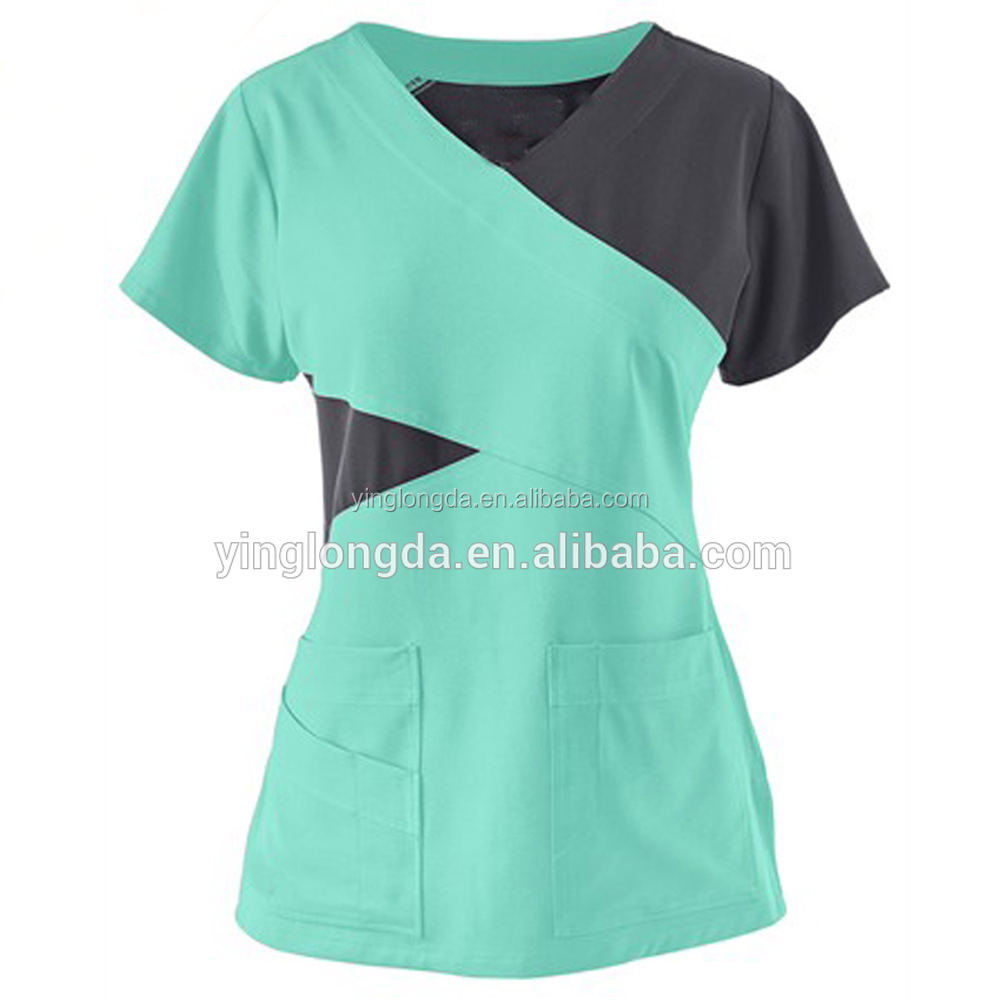 nurses uniform design pictures cotton polyester nurse hospital uniform