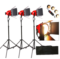Studio Photo Pro 800w 3200K continous Quartz Fresnel Video Spot and Flood Red Head Mono light