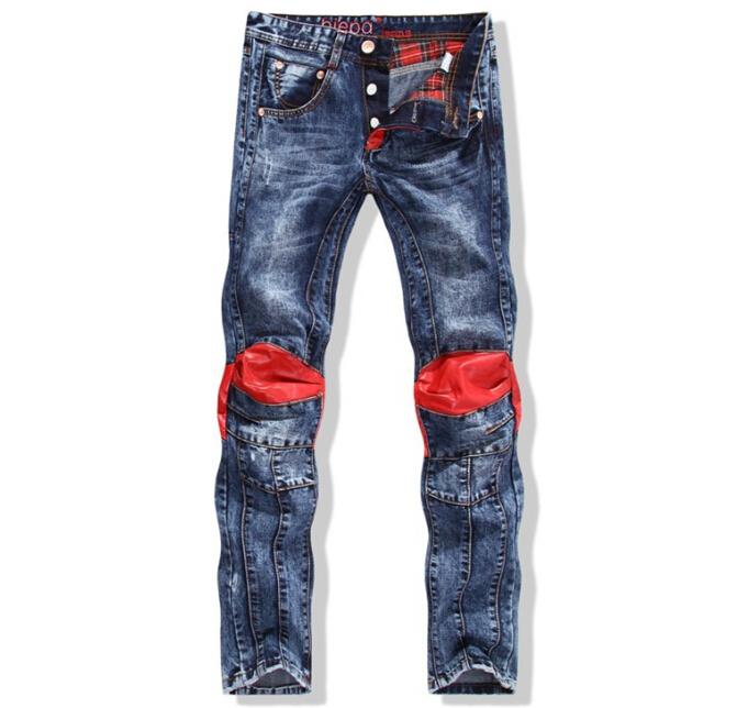 d69565f0b7302 Get Quotations · 2015hot sell fashion new brand patchwork vintage famous jeans  men motorcycle vaqueros true religious men plus