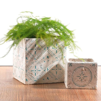 China Table Decoration Mini Cube Bud Planters Rough Square Concrete Planter For Corner Buy Concrete Planter Square Concrete Planters Mini Planter