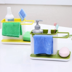 Sponge Kitchen Box Draining Rack Dish Self Draining Sink Storage Rack Kitchen Organizer Stands Utensils Towel Rack