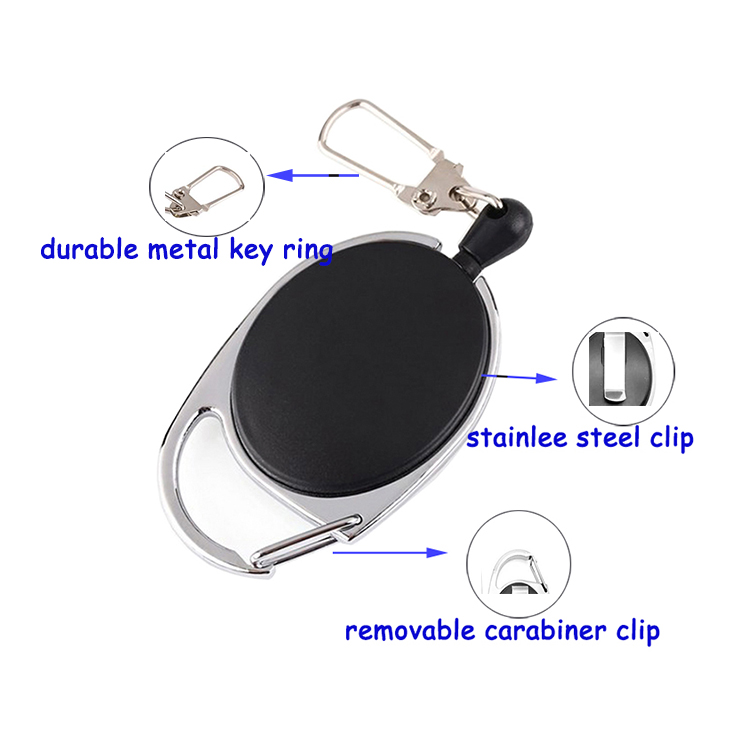 Großhandel Multi-StyleYoYo Karabiner Retractable Id Badge Holder Zugrolle
