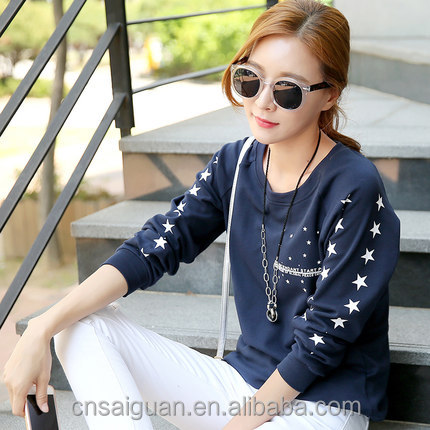 China factory price custom your own design long sleeve print ladies OEM t shirt