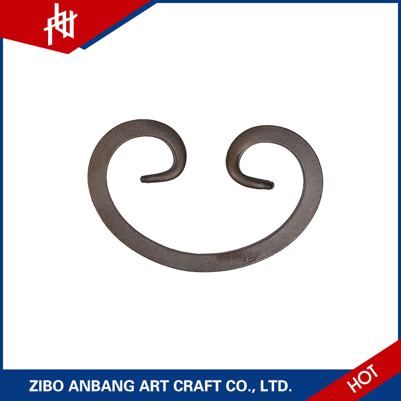 wrought iron component iron fence design scroll ornaments for outdoor iron railings prices